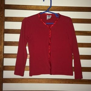 Girls Old Navy Red Cotton Cardigan size 4/5
